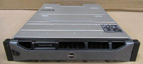 Dell Compellent SC220 21.6TB SAS 24x 900GB 2x SC2 EMM Controller Enclosure GKY31